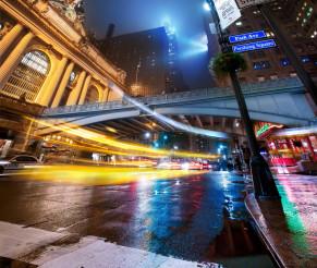 Grand Central Terminal in the rain