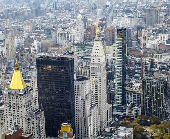 New York Life Building seen from chopper